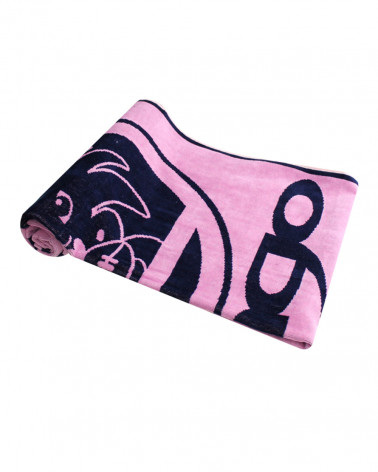 Drap de bain Tiki rose, 100% coton