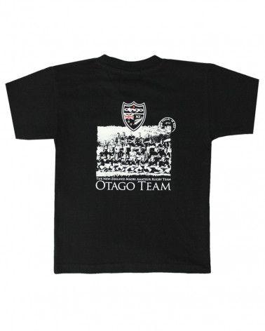 T-shirt Team Otago rugby enfant col rond noir