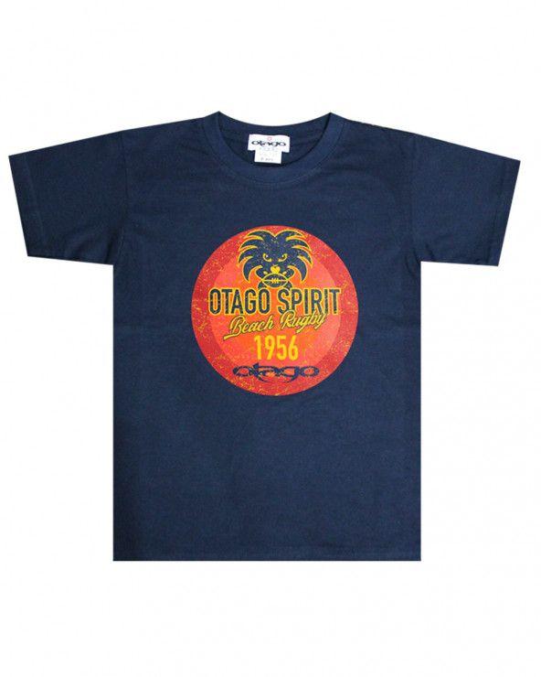 T-shirt Tikibeach Otago rugby enfant col rond marine