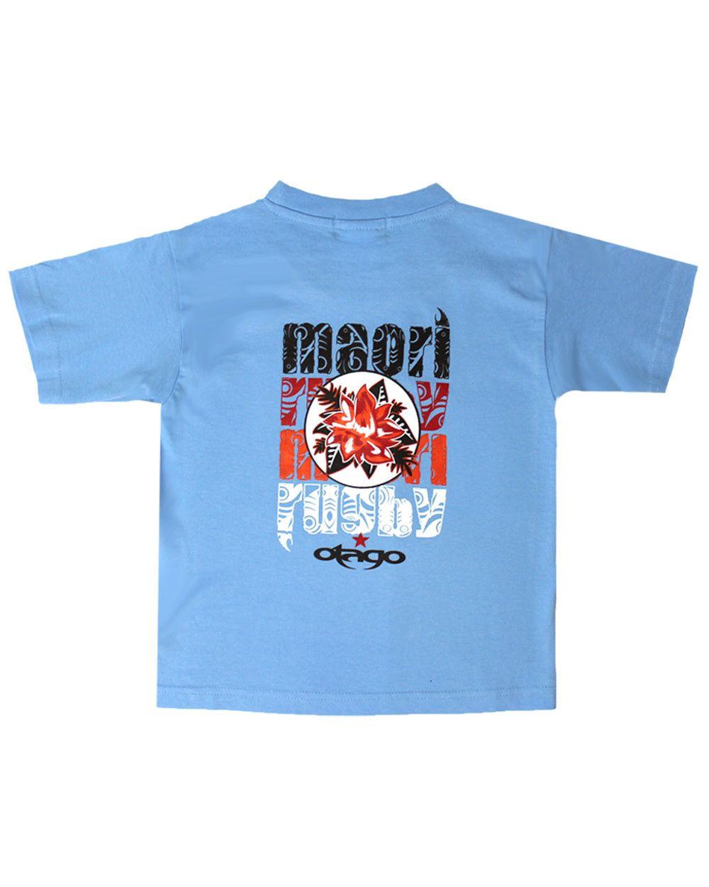 T-shirt Flower Otago rugby enfant col rond ciel