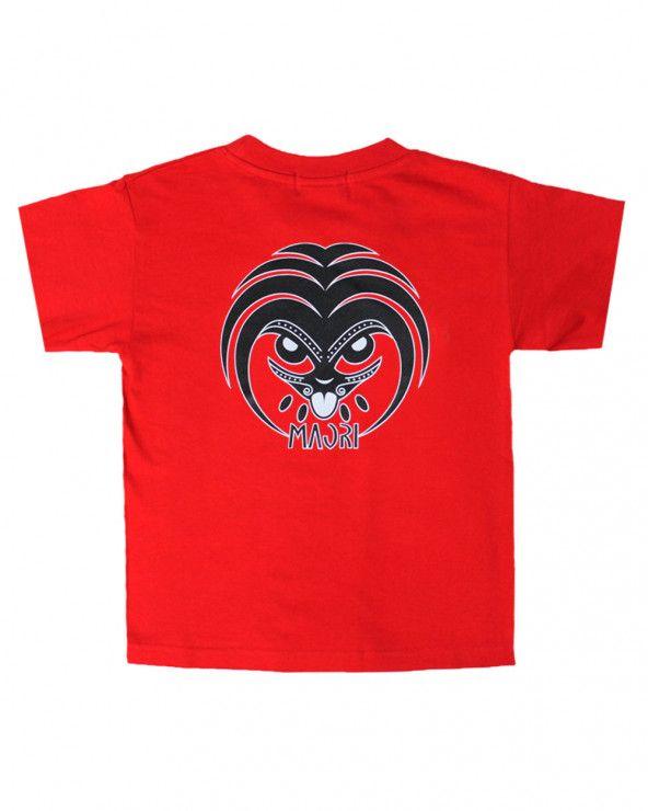 T-shirt Lang Otago rugby enfant col rond rouge