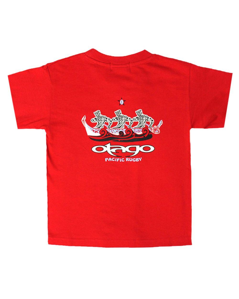 T-shirt Pagué Otago rugby enfant col rond rouge