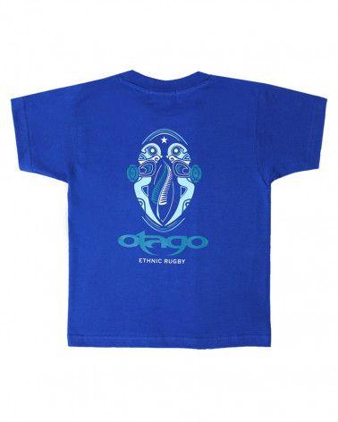 T-shirt Ututu Otago rugby enfant col rond bleu royal