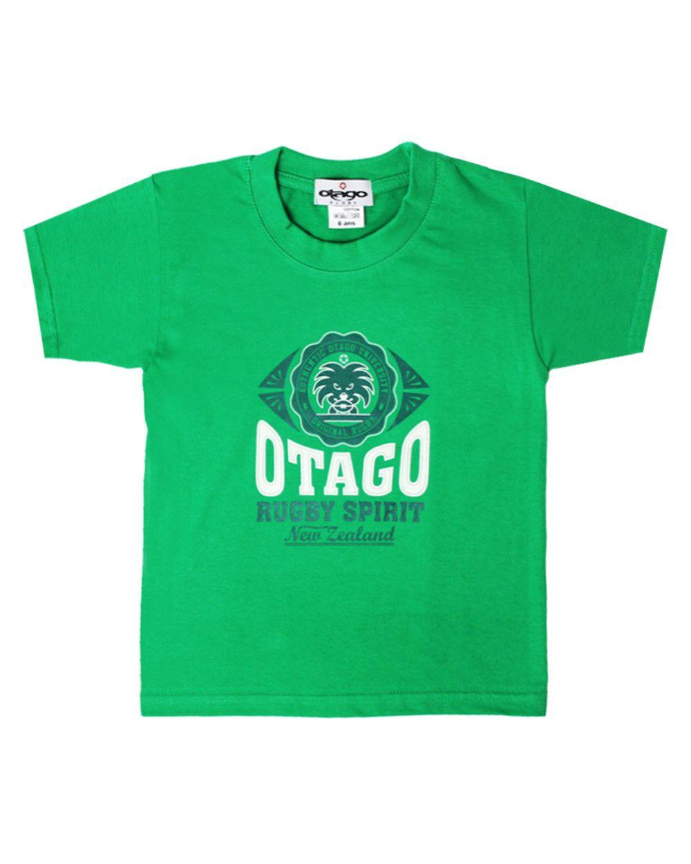 T-shirt Everlandy Otago rugby enfant col rond vert