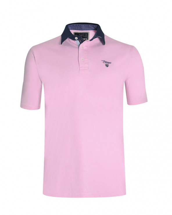 Polo Griff manches courtes Otago rose homme