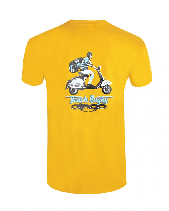 T-shirt Vespa Otago rugby jaune homme
