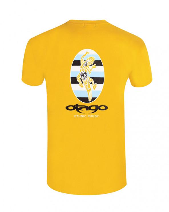 T-shirt Koru Otago rugby jaune homme