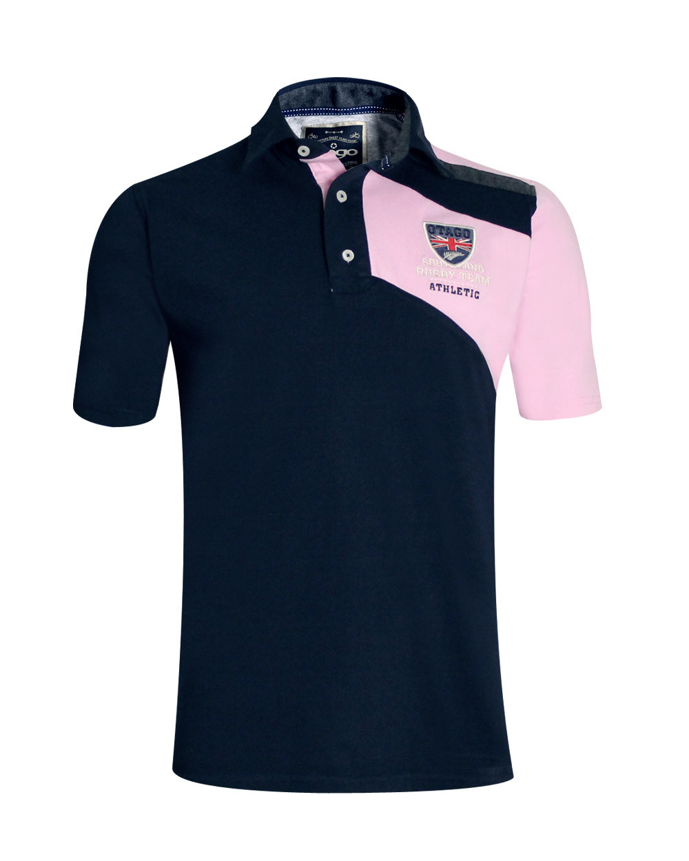 Polo Flash Jersey Otago rugby marine rose homme