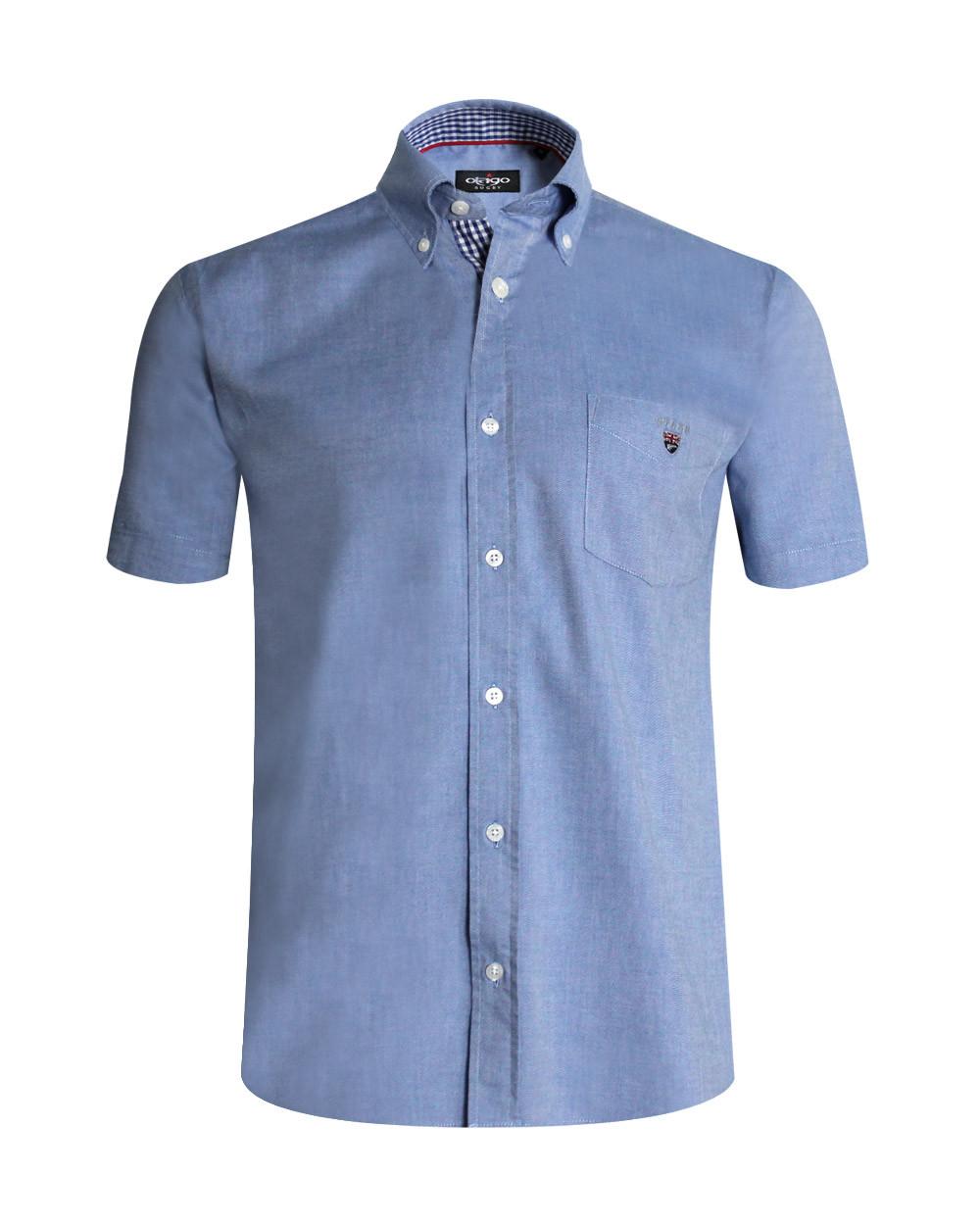 Chemise manches courtes Griff Oxford Otago bleu marine homme