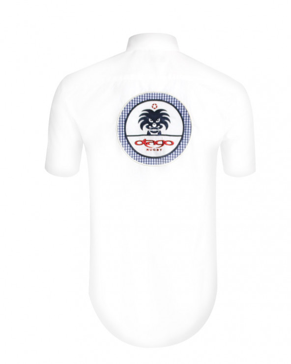 Chemise manches courtes Vitikago blanche Otago rugby Homme