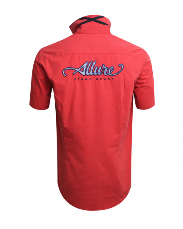 Chemise Allure manches courtes Otago rugby corail homme