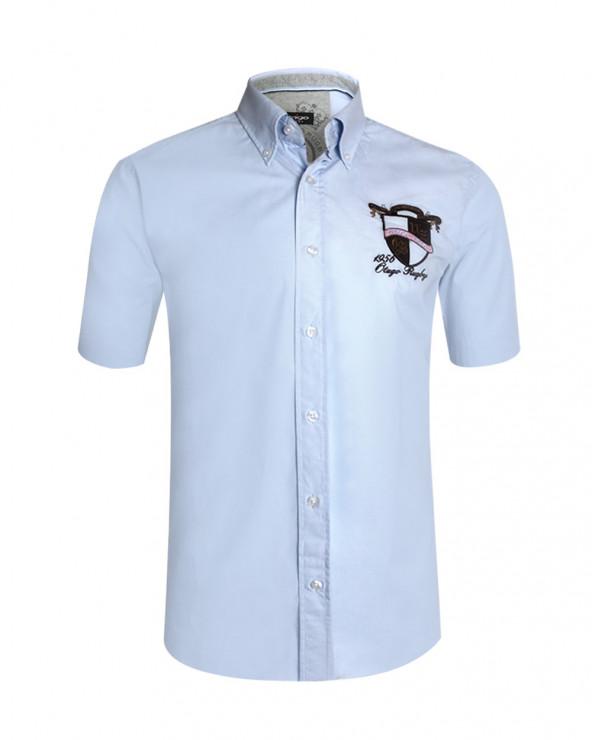 chemise Bella manches courtes Otago rugby ciel homme