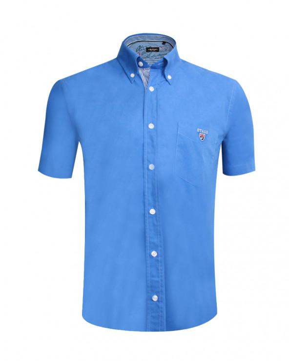 chemise Buenos Aires Otago manches courtes bleu lavande homme