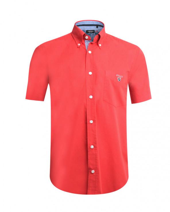 chemise Buenos Aires Otago manches courtes corail homme
