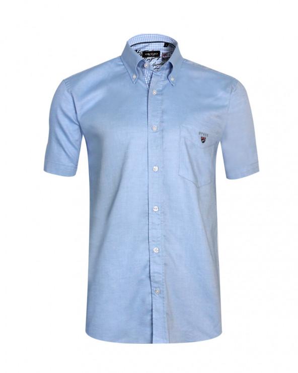 chemise Buenos Aires Oxford Otago manches courtes bleu ciel homme