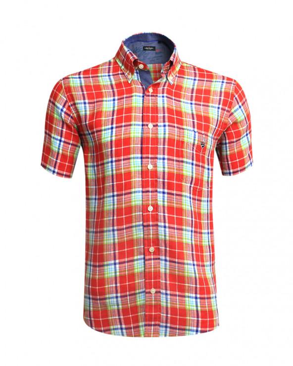 Chemise Cipro Otago à carreaux rouge homme