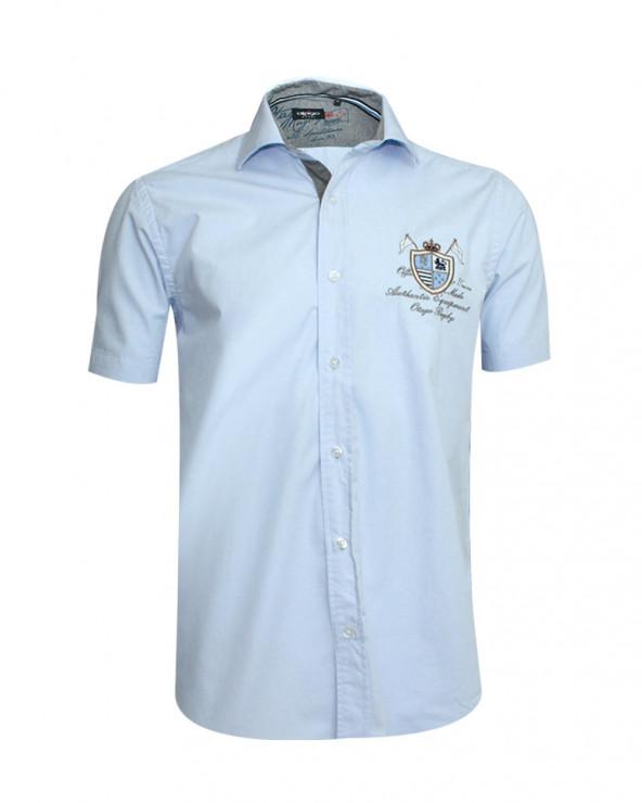 Chemise manches courtes Victor Otago bleu ciel homme