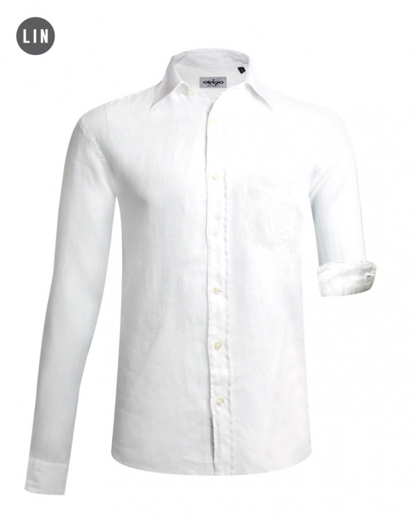 chemise 2011 manches longues Otago blanche homme
