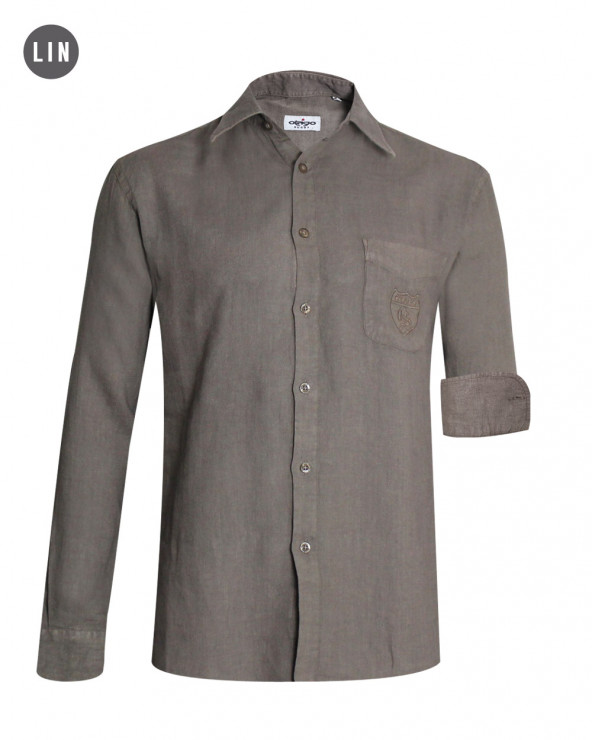 chemise 2011 manches longues Otago taupe homme