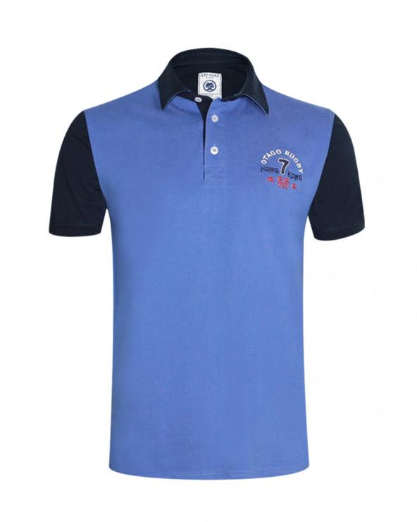 Polo Hong Kong Otago manches courtes bleu lavande homme