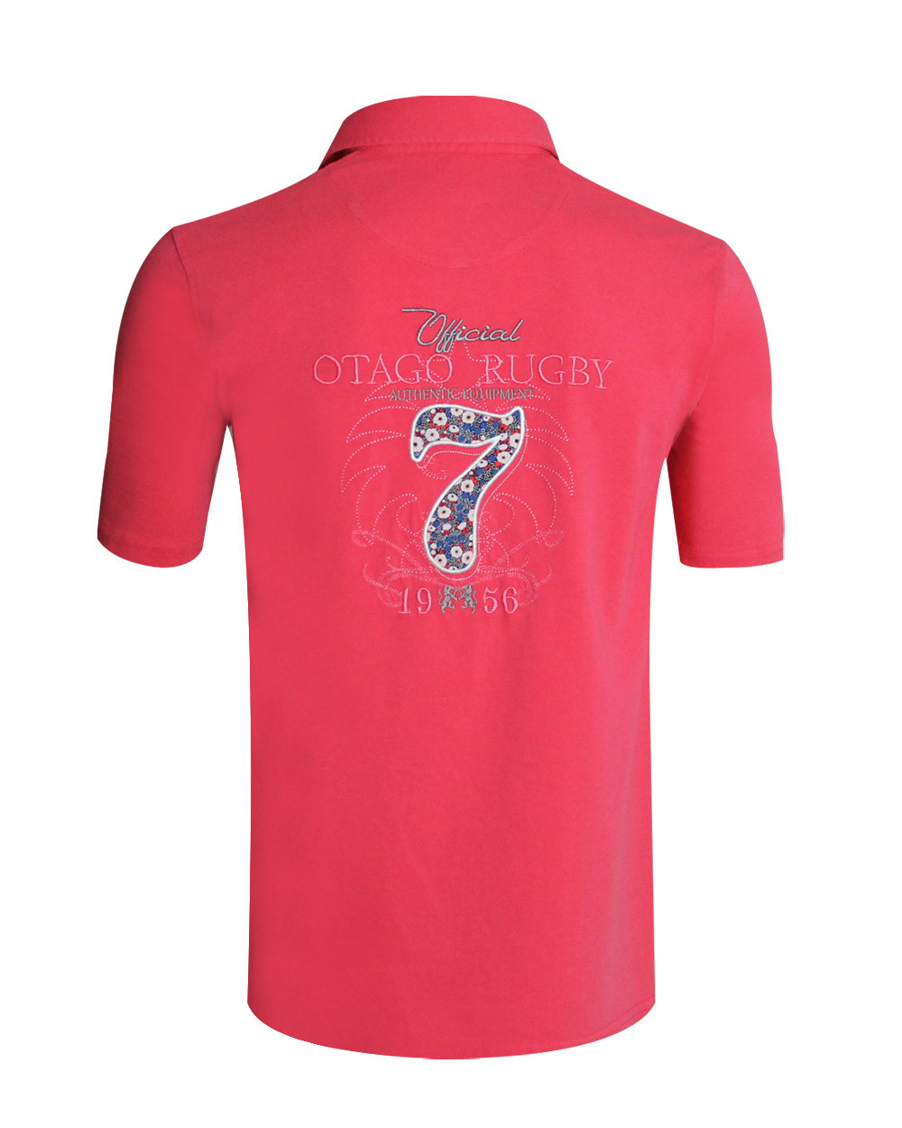 Polo William manches courtes corail homme
