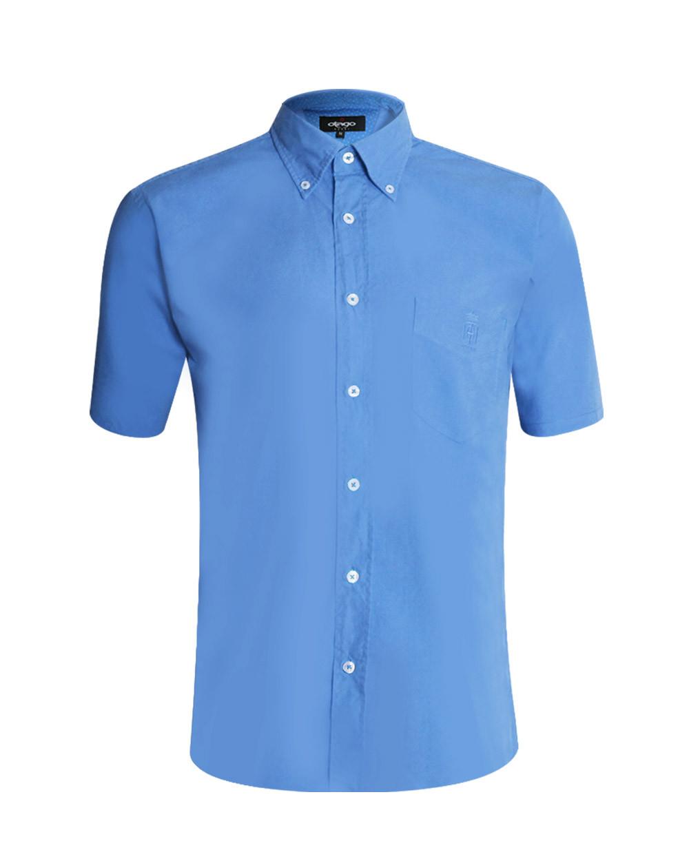 Chemise Oxford Otago manches courtes bleu lavande homme