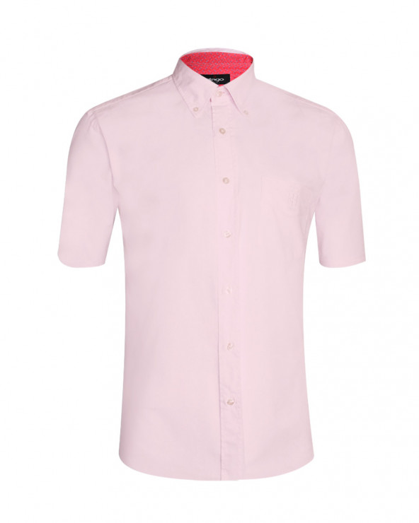 Chemise Oxford Otago manches courtes rose homme