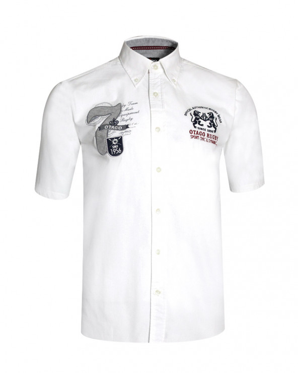 Chemise Rome old blanche manches courtes Otago homme