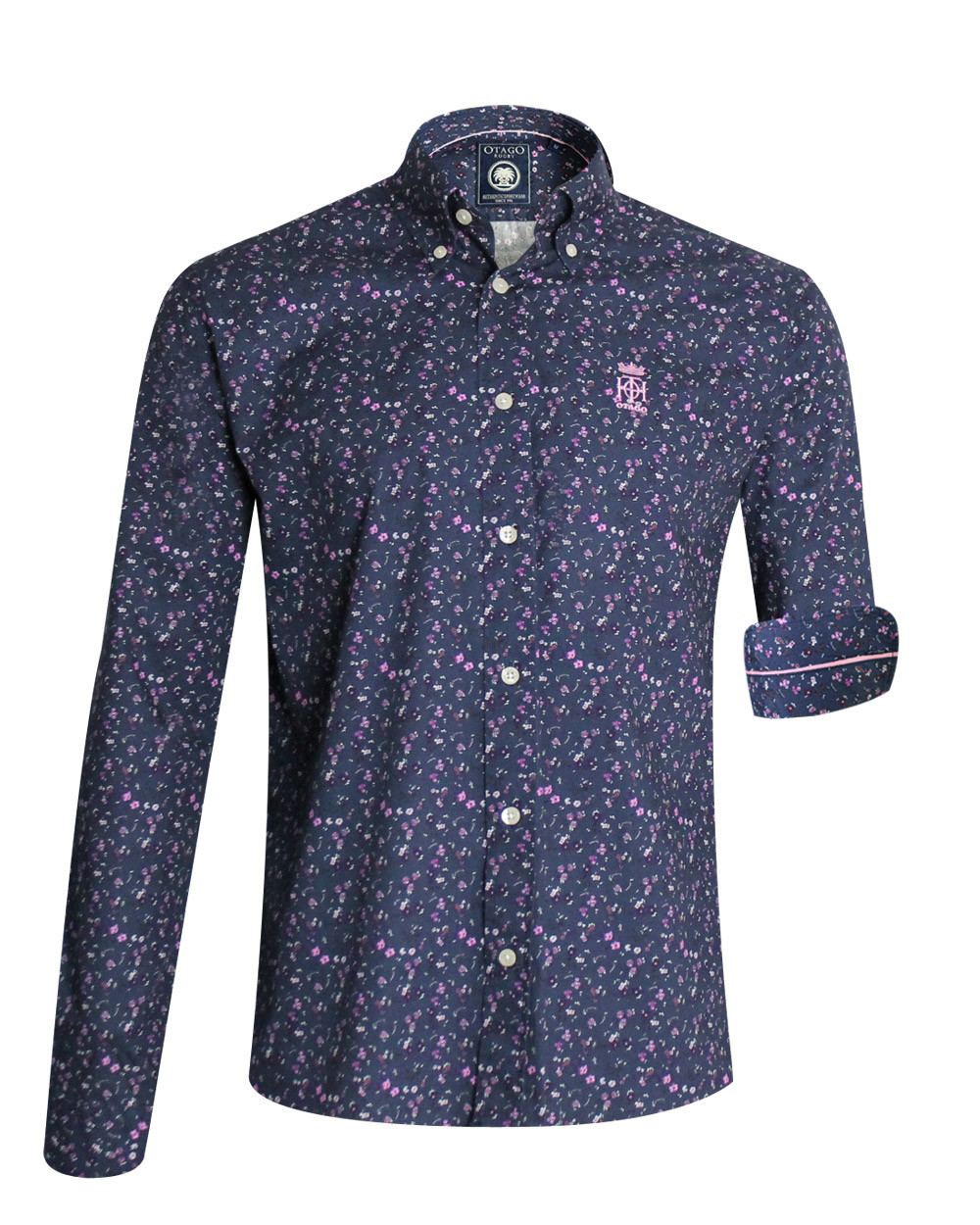 Chemise 111 manches longues Otago rugby bleu marine homme