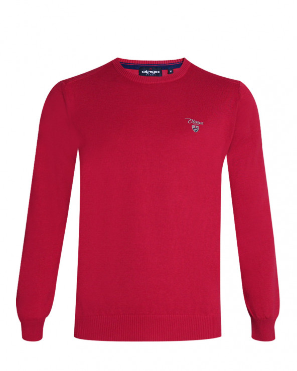 Pull Bologne col rond rouge Otago homme