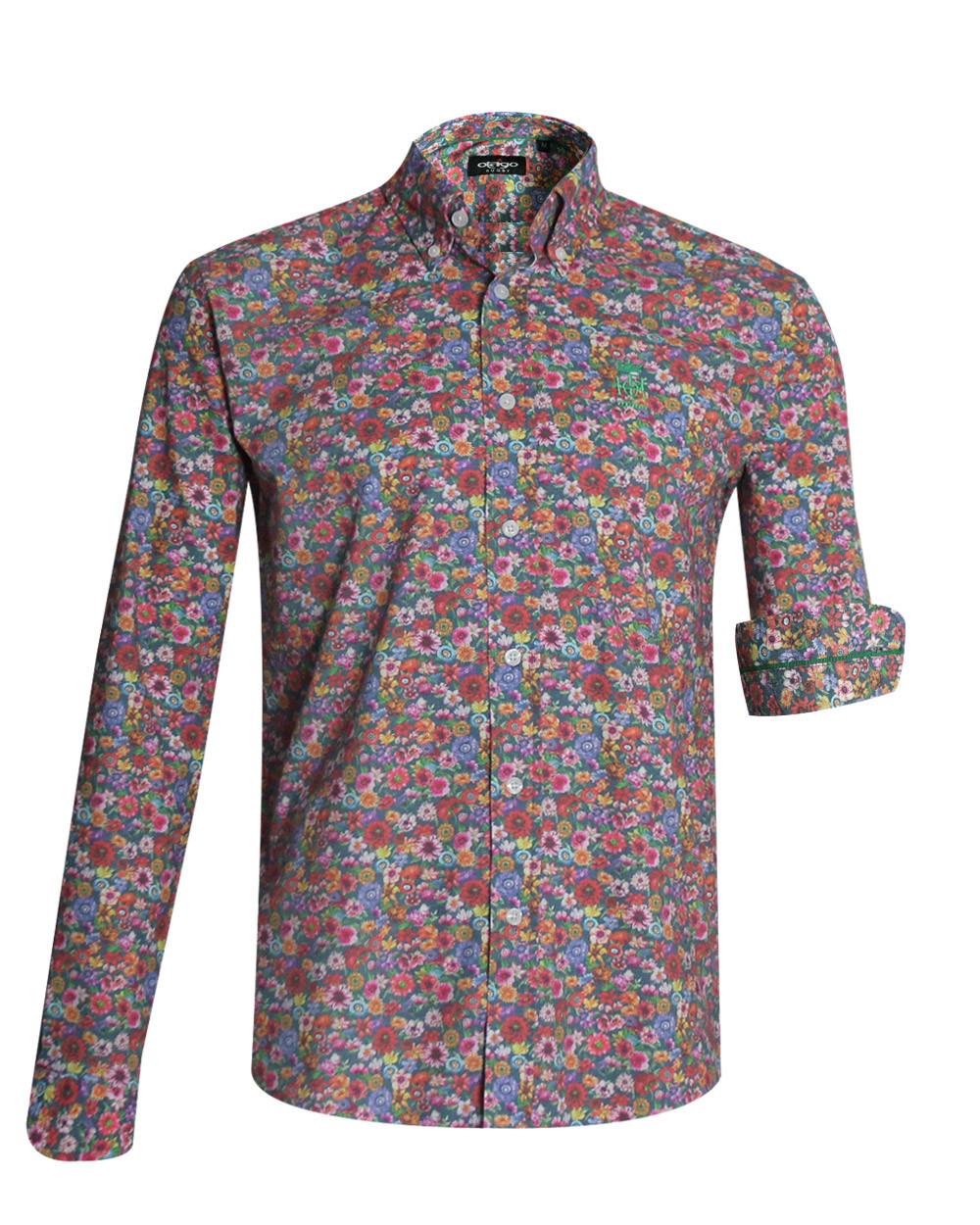 Chemise 121 manches longues Otago rugby à motifs multicolores homme