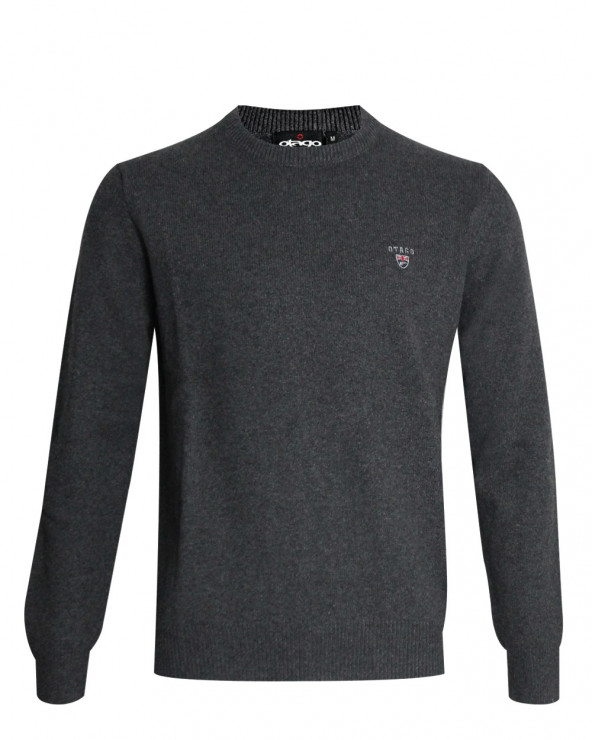 Pull Buenos Aires col rond Otago gris anthracite homme