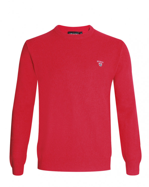 Pull Buenos Aires col rond Otago rouge homme