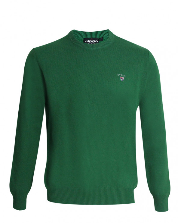 Pull Buenos Aires col rond Otago vert homme