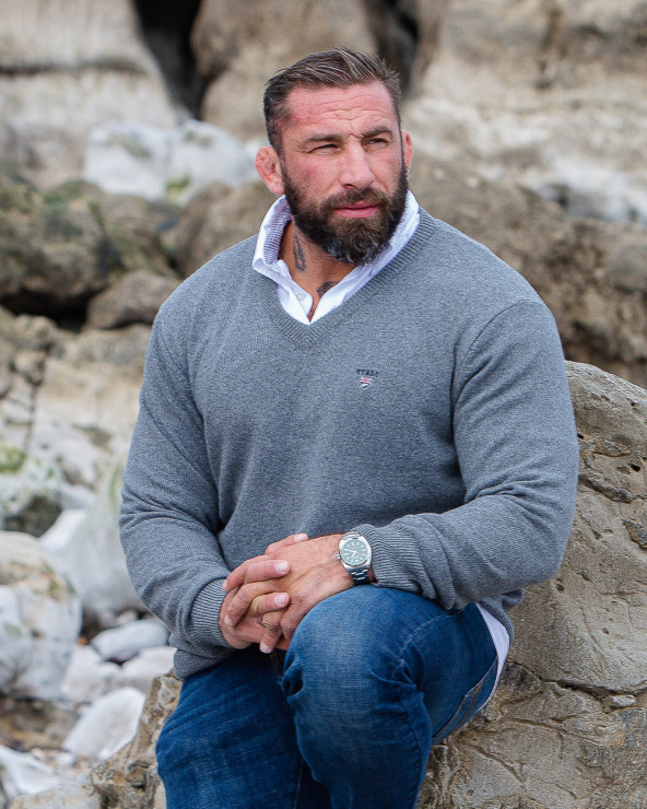 Pull Buenos Aires col V Otago gris homme