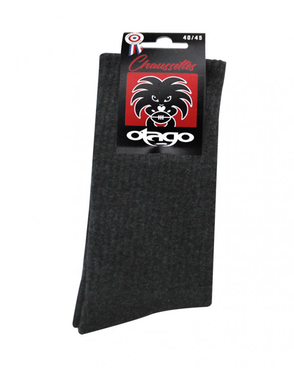 Chaussettes Otago rugby gris chiné homme