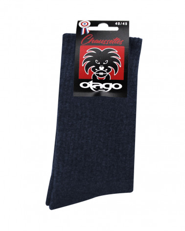 Chaussettes Otago rugby bleu marine homme