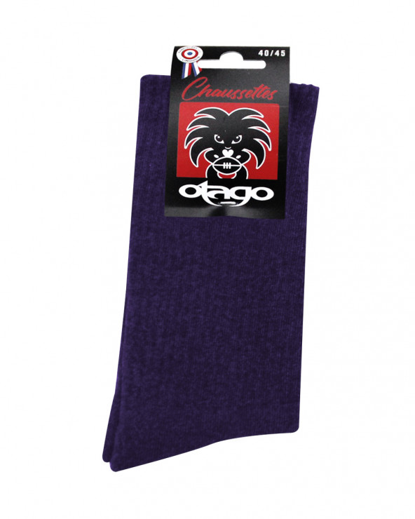 Chaussettes Otago rugby violet homme