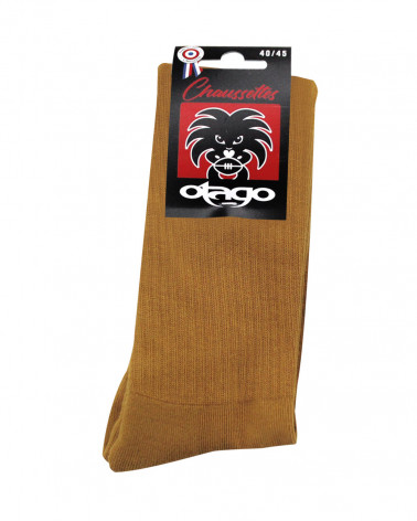 Chaussettes Otago rugby moutarde homme