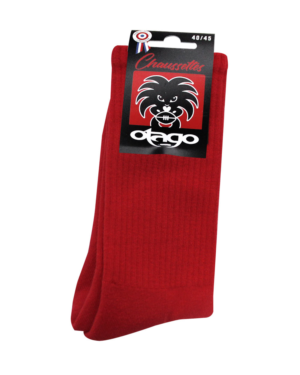 Chaussettes Otago rugby rouges homme