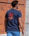 Tee-shirt Flotiki Otago rugby denim homme