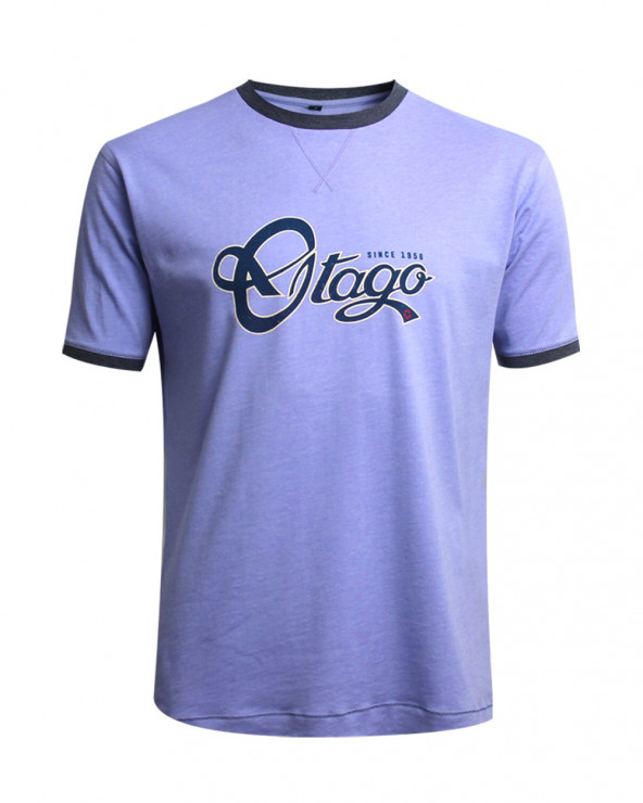 Tee-shirt BECKBY OTAGO rugby col rond violet homme