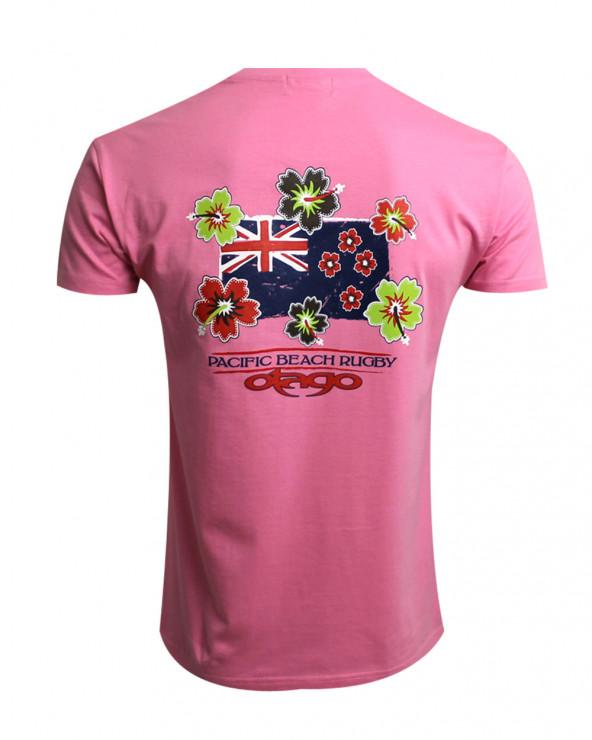 T-shirt Flag Otago rose homme