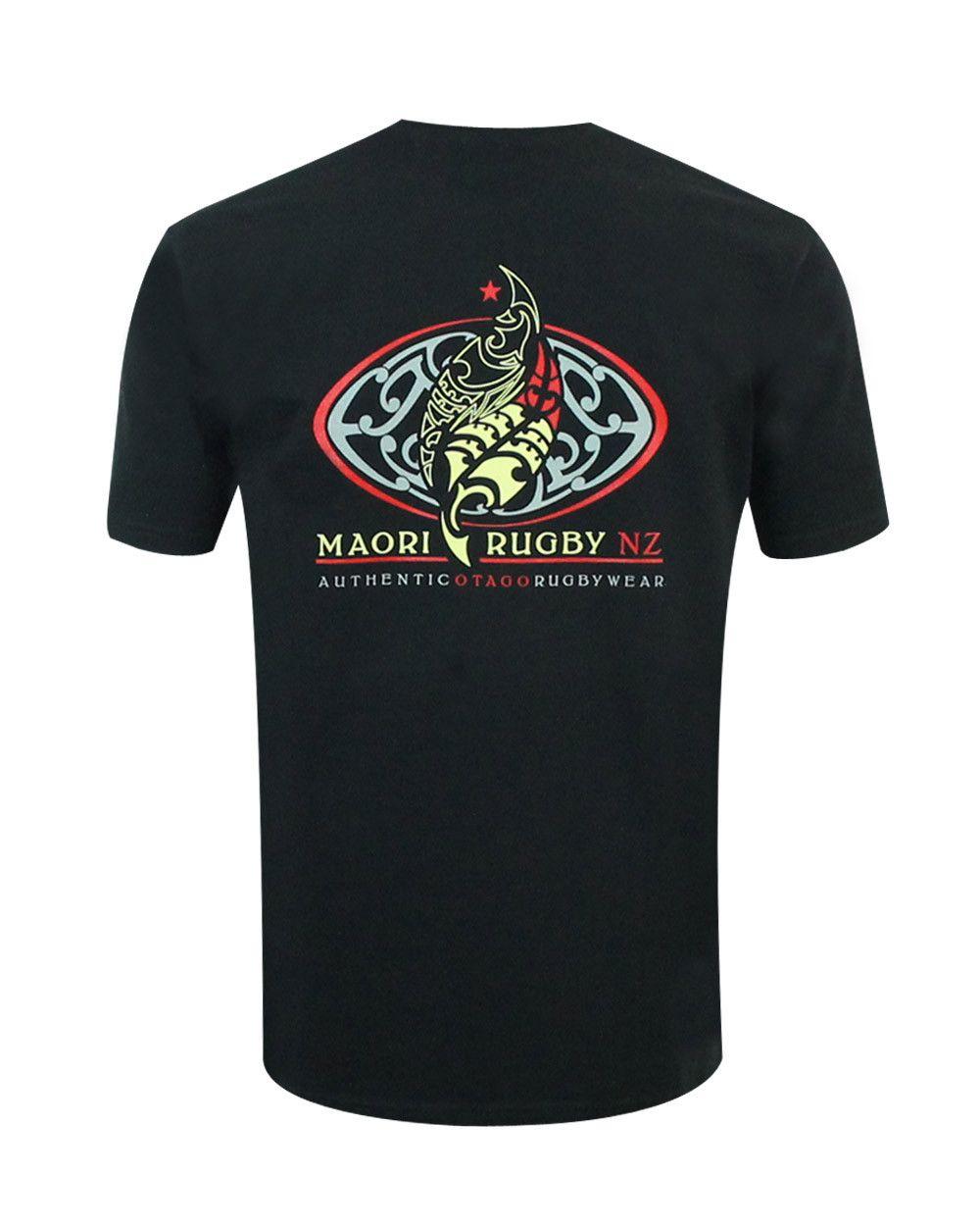 T-shirt Napier Otago rugby noir col rond homme