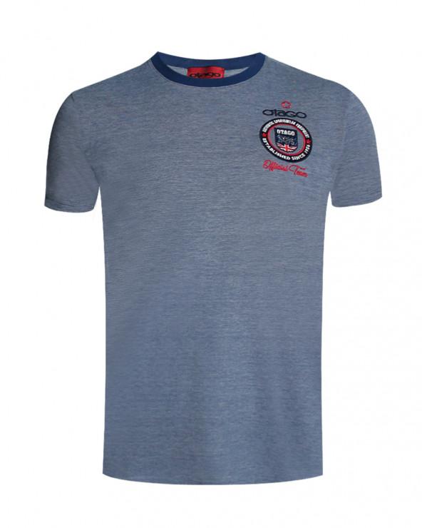 Tee-shirt OTABADGE rayé Otago rugby bleu homme