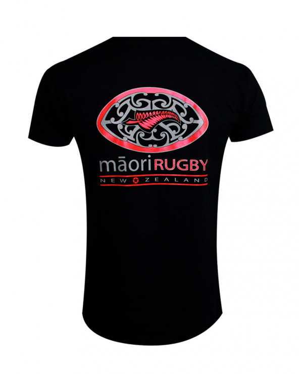 Tee-shirt Player Otago rugby col rond noir homme