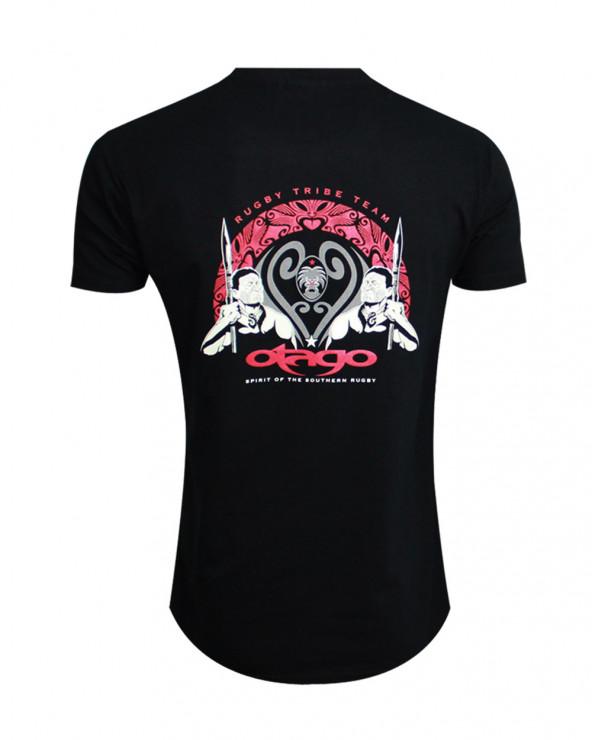 Tee-shirt Warrior Otago rugby col rond noir homme