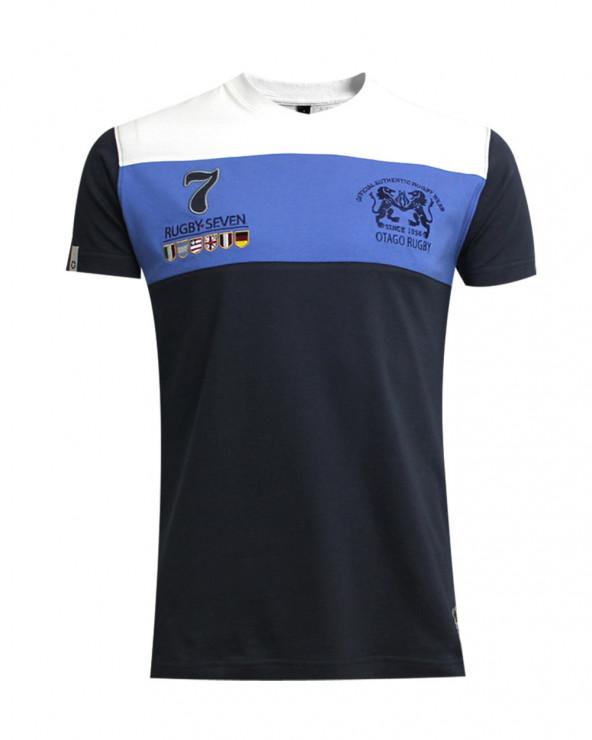 T-shirt Cory col V Otago rugby marine homme