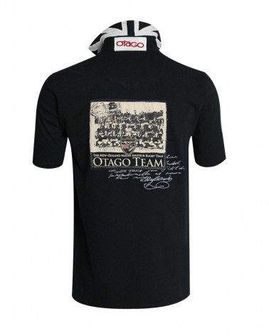 Polo Marco Team Otago rugby noir homme