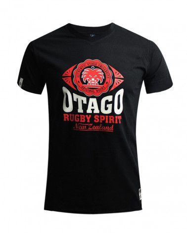 Burns Tshirt Everlandy Otago rugby col V noir homme
